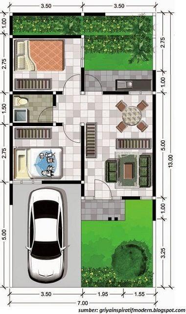 desain rumah dapur luar