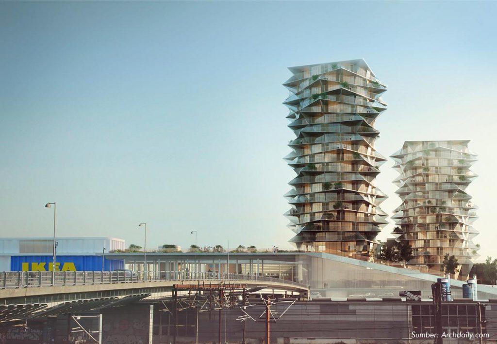 Wow! Ada Gedung Kaktus di Copenhagen Setinggi 60 Lantai