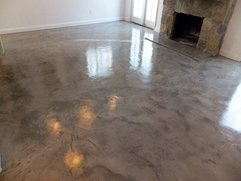 lantai plester unik gaya vintage