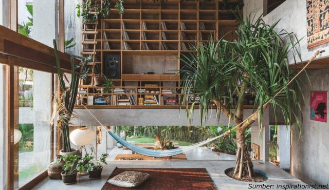 Potret Memukau Desain Rumah Industrial Tropis Karya Pathisandika