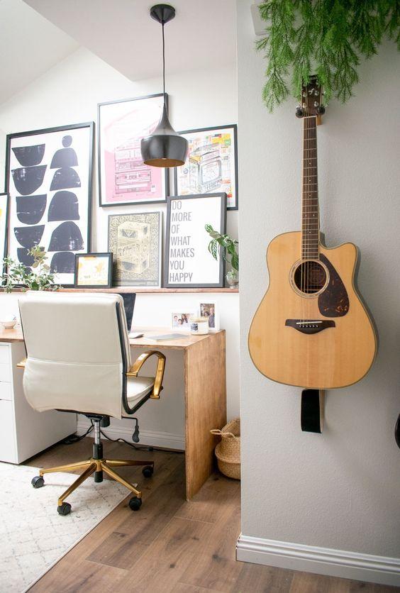 Desain Rumah di Kantor Alat Musik