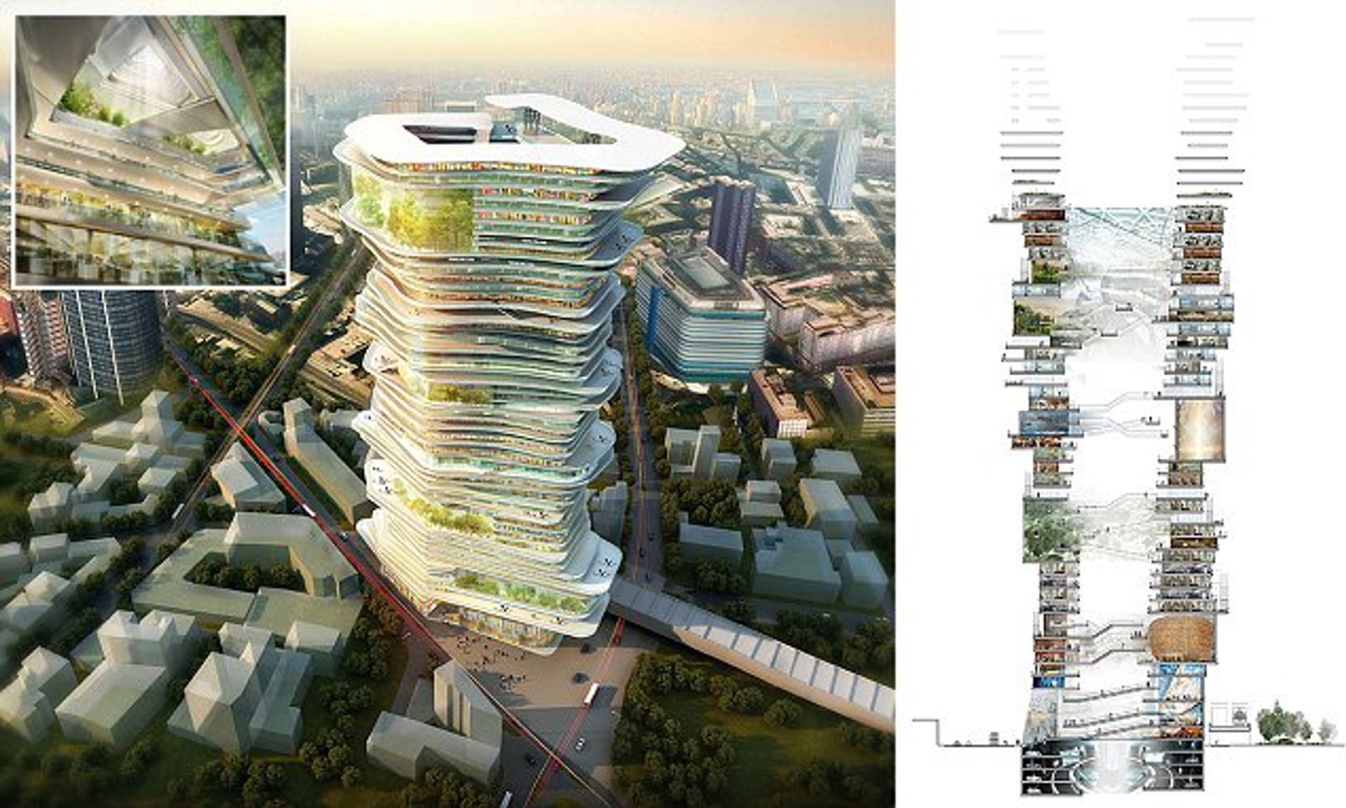 bangunan futuristik