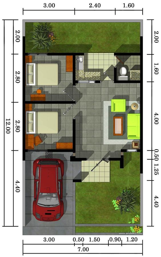desain rumah kamar tidur luar
