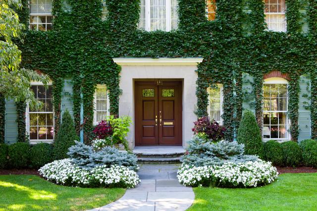 rumah mewah dengan tanaman rambat