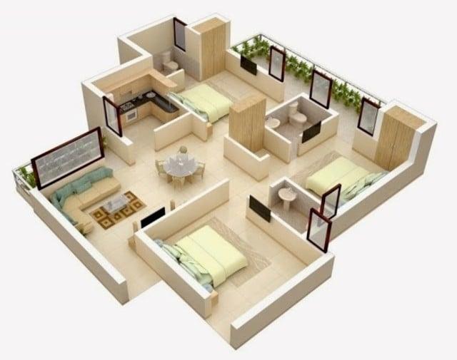 rumah minimalis type 36 3 kamar