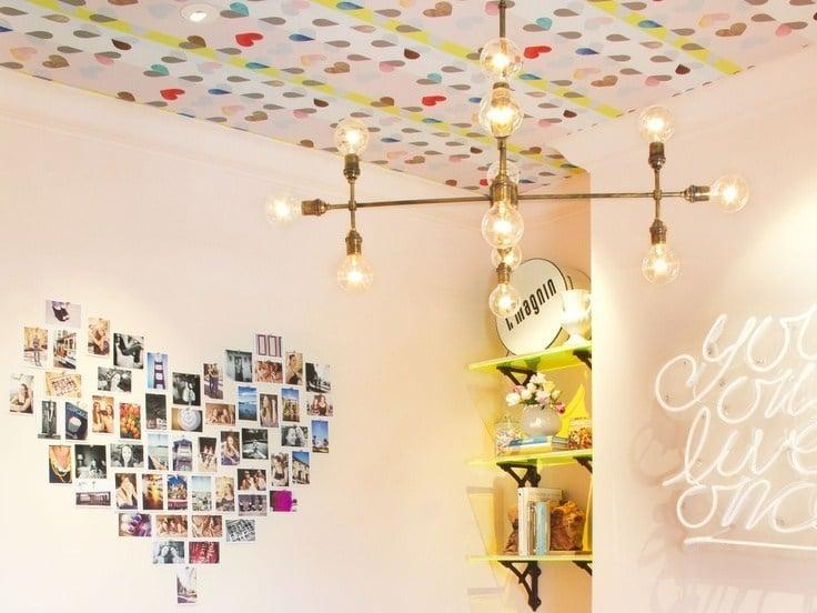hiasan kertas kado plafond
