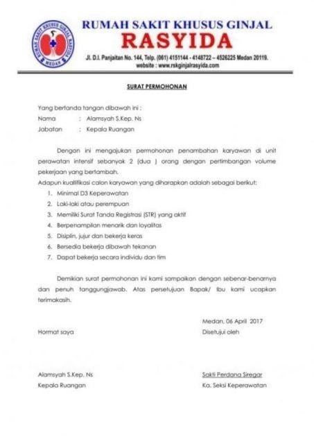 contoh surat dinas rumah sakit