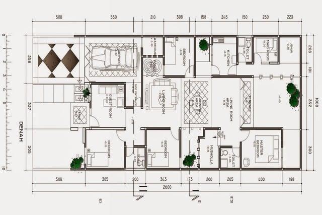 desain rumah type 80 3 kamar tidur
