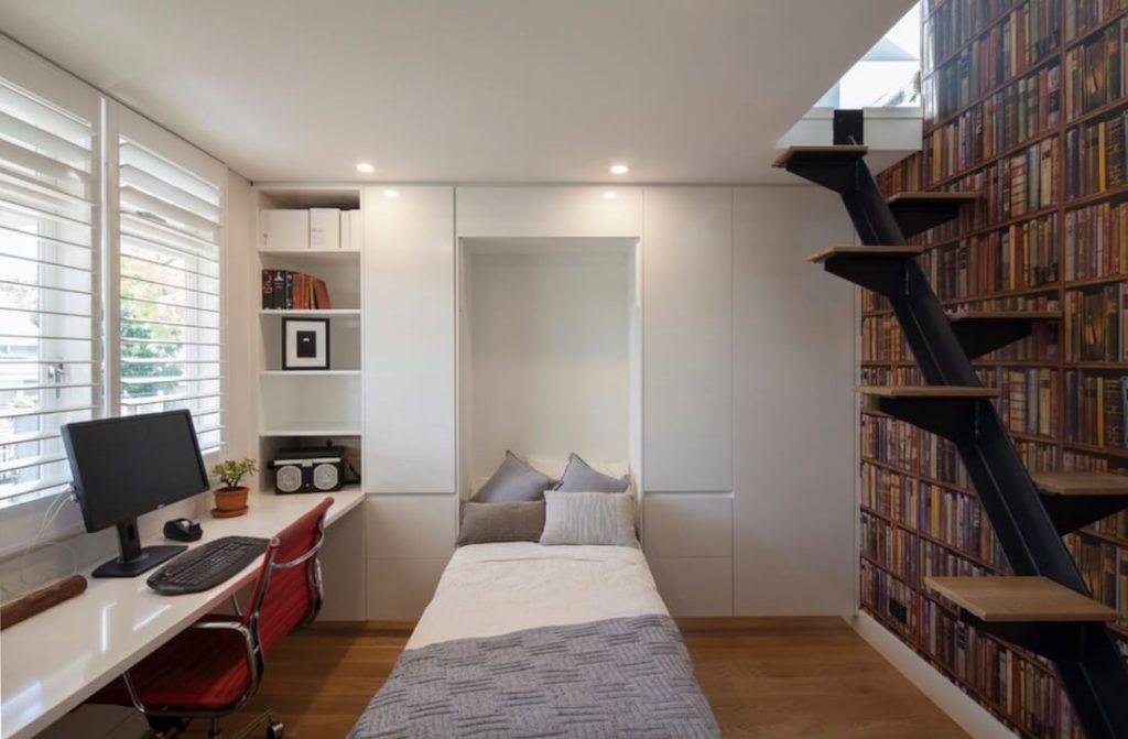 kamar multifungsi dengan ranjang lipat