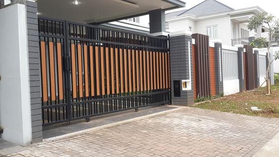 pagar rumah klasik modern