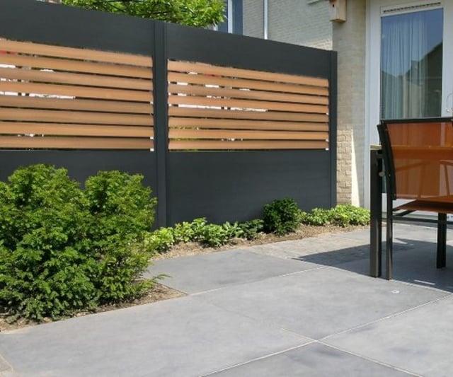 pagar beton dan kayu
