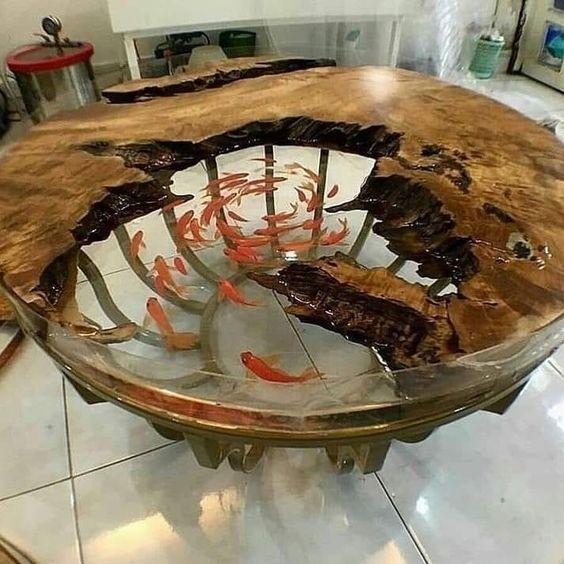 motif meja ikan mas
