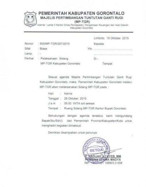 surat dinas kuasa