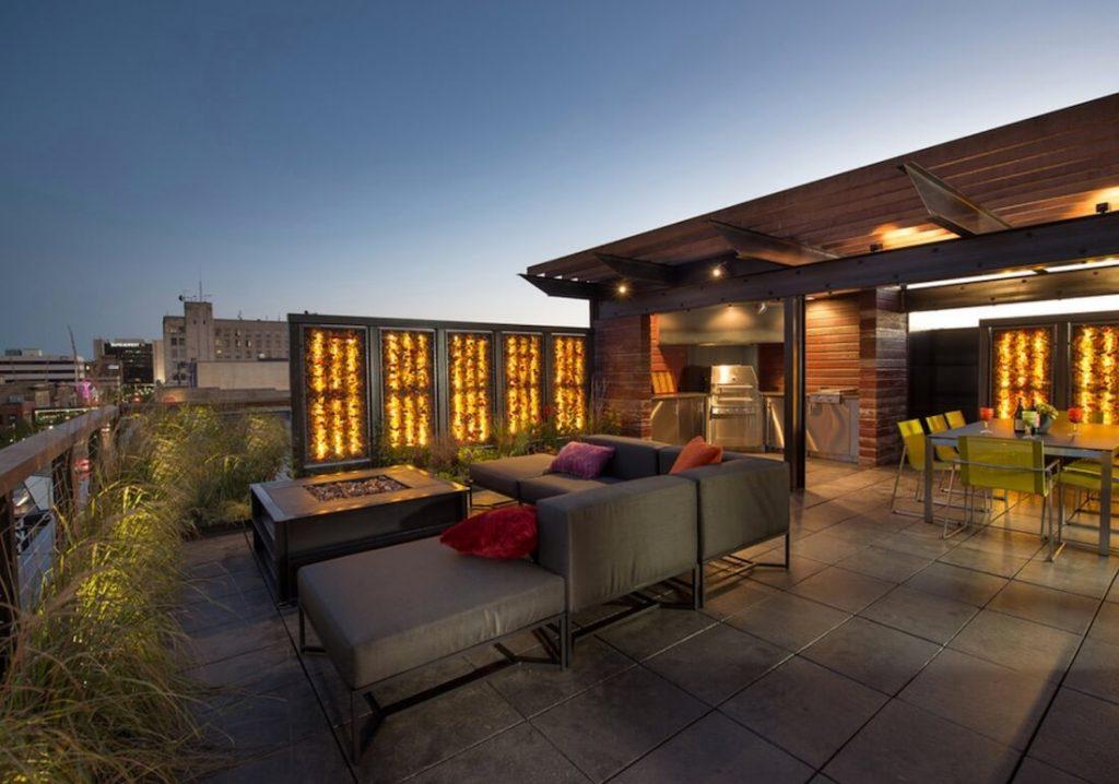 ruang tamu outdoor mewah