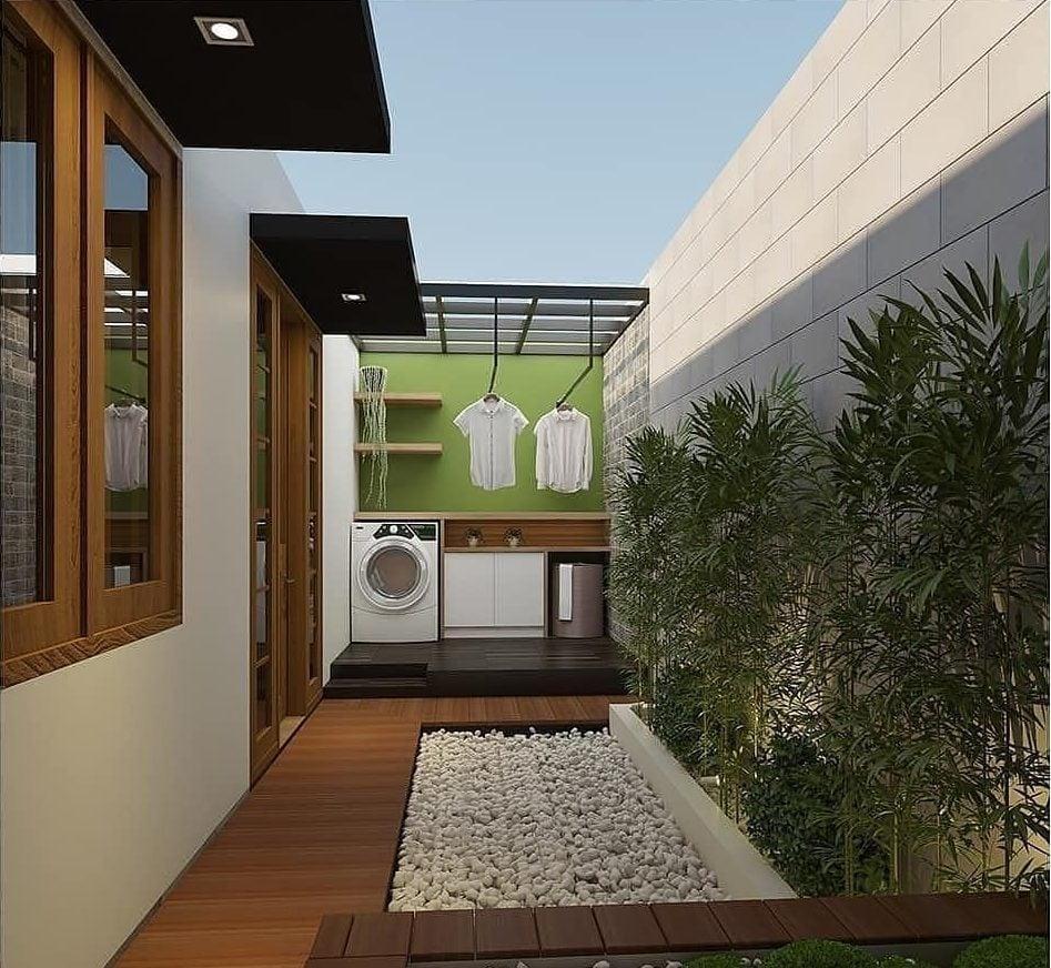 ruang cuci jemur outdoor