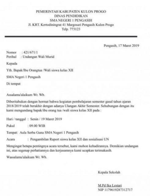 15 Contoh Surat Dinas Resmi Pemerintah Hingga Sekolah