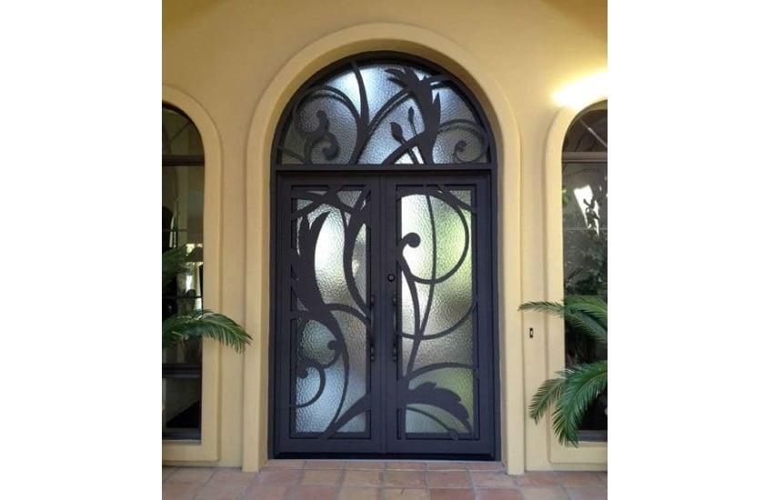 pintu kaca artistik