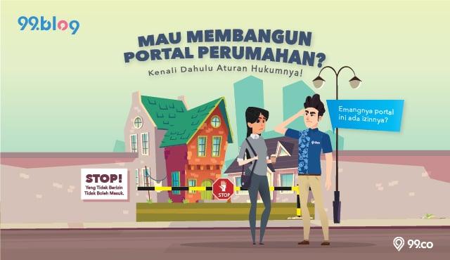 membangun portal perumahan