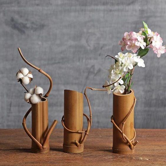 Cara Membuat Vas Bunga Dari Bambu Yang Cantik Nan Indah Mudah