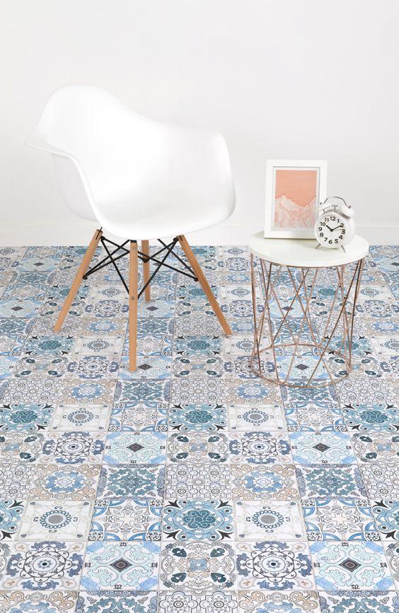 Blue Tile Effect
