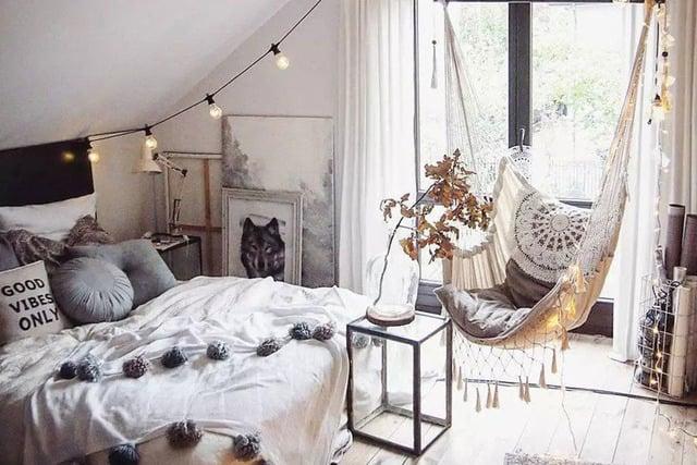 kamar tidur bohemian