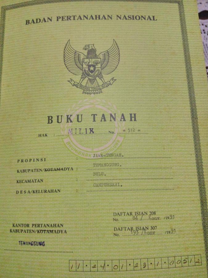 perbedaan buku tanah dan sertifikat tanah