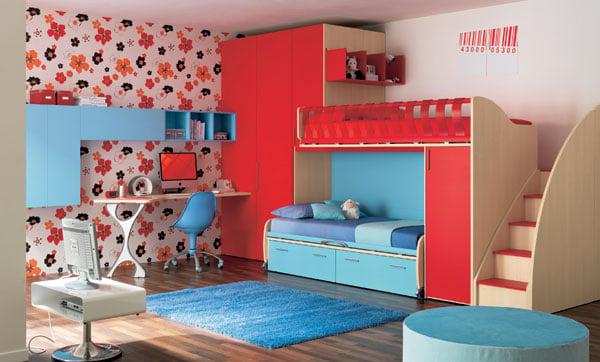 7 Inspirasi Desain Tempat Tidur Tingkat Minimalis Anak Hemat Ruang