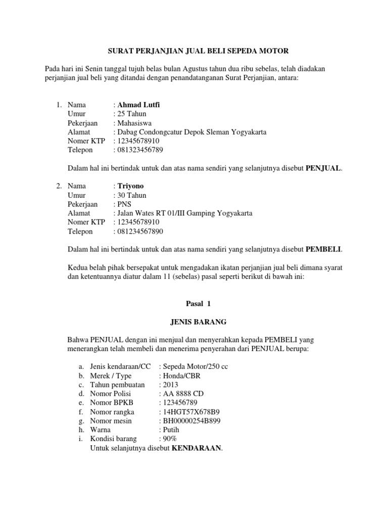 8 Contoh Surat Perjanjian Dilengkapi Penjelasan Lengkap