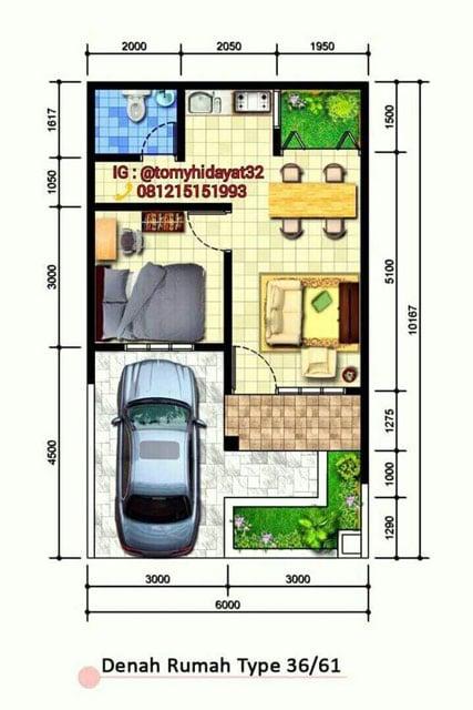 7 Denah Desain Rumah 6x10 Yang Mungil Tetapi Fungsional Minimalis
