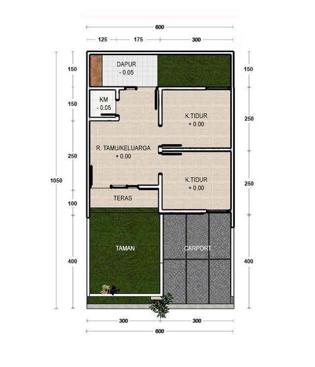 desain rumah 6x10