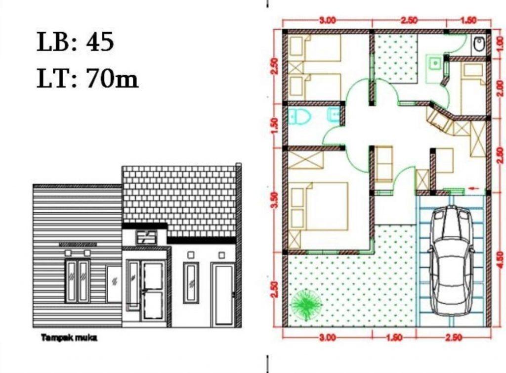 Denah Rumah Simpel