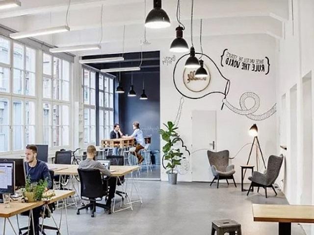 desain kantor open plan