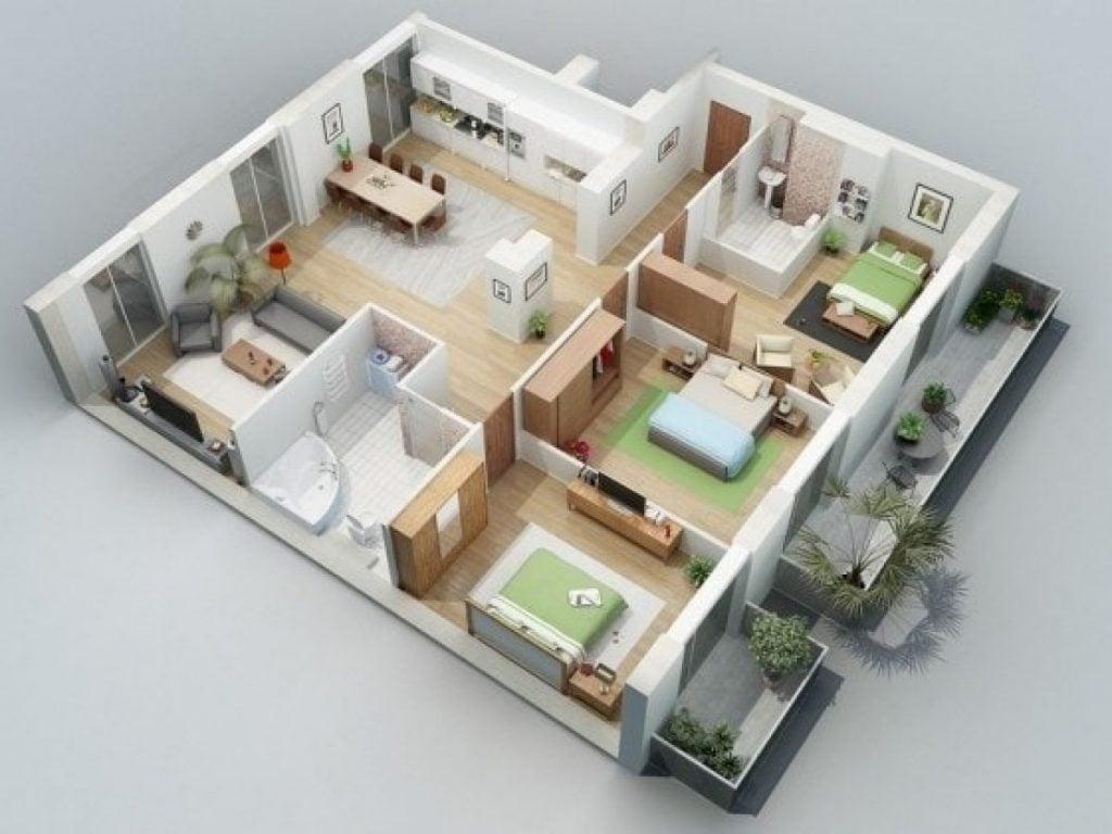 Gambar Denah Rumah Luas yang Minimalis