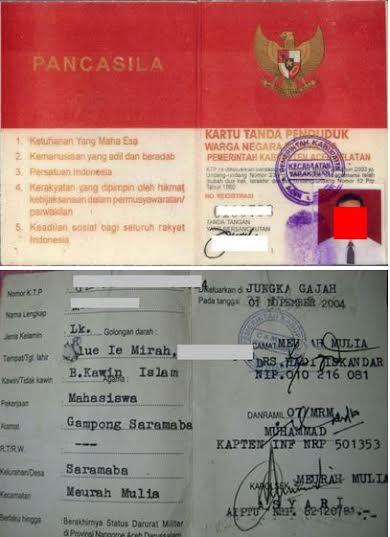 KTP Darurat Militer Aceh