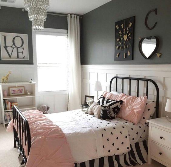 Kamar Anak Perempuan Bernuansa Monokrom