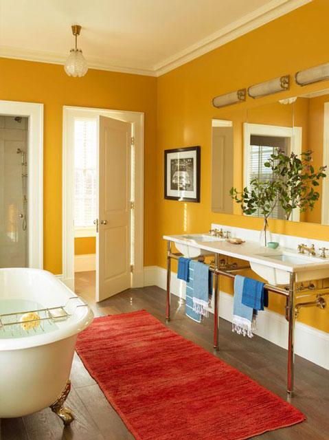 kamar mandi warna mustard