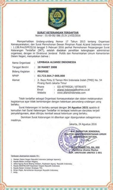 Kop Surat Aliansi Organisasi