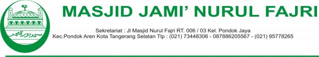 Kop Surat dari Masjid
