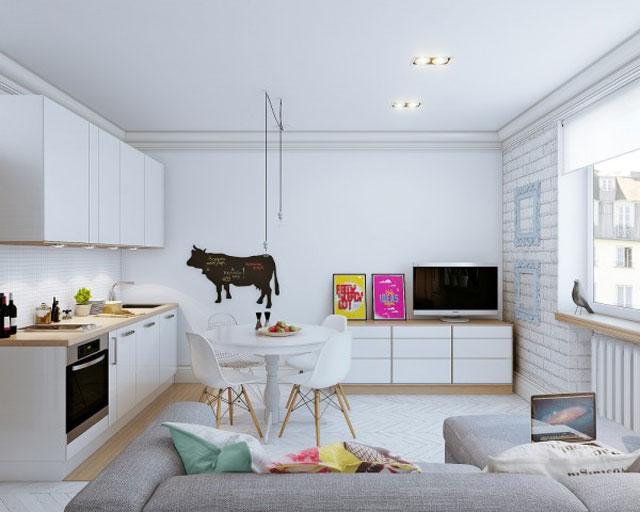 desain interior rumah minimalis tanpa sekat