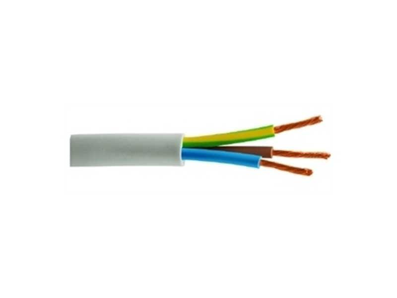 kabel NYMHY putih tiga inti