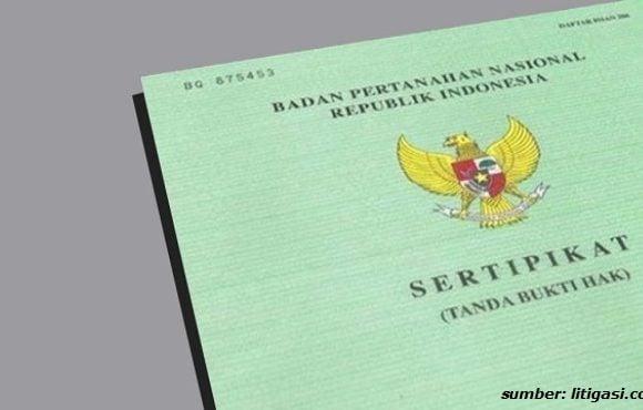 nomor sertifikat tanah