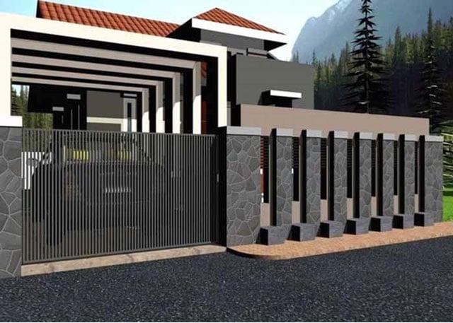7 Desain Pagar Besi Minimalis Untuk Hunian Modern 2020