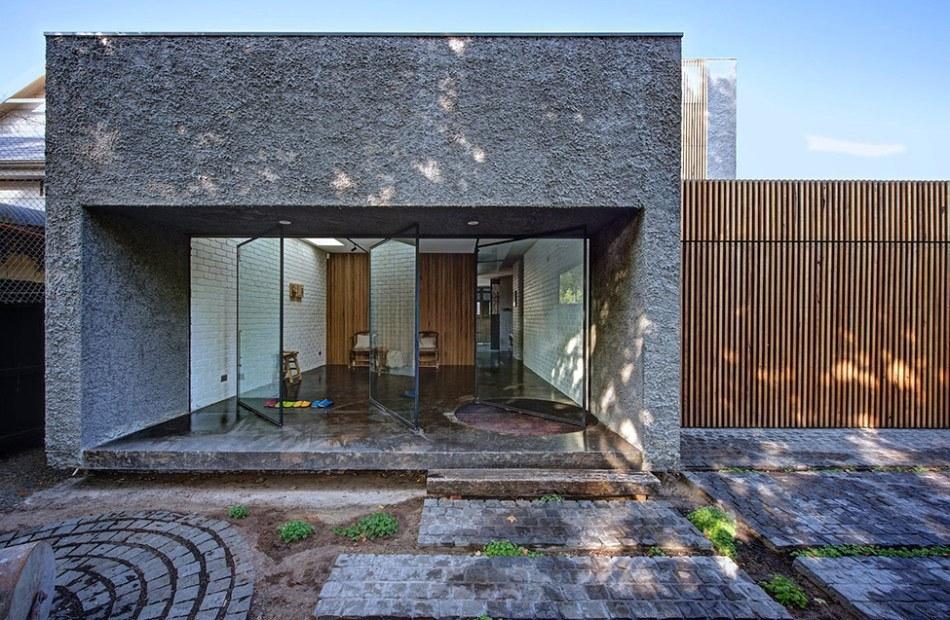 18 Inspirasi Desain Rumah Batu Alam Terlihat Natural Modern