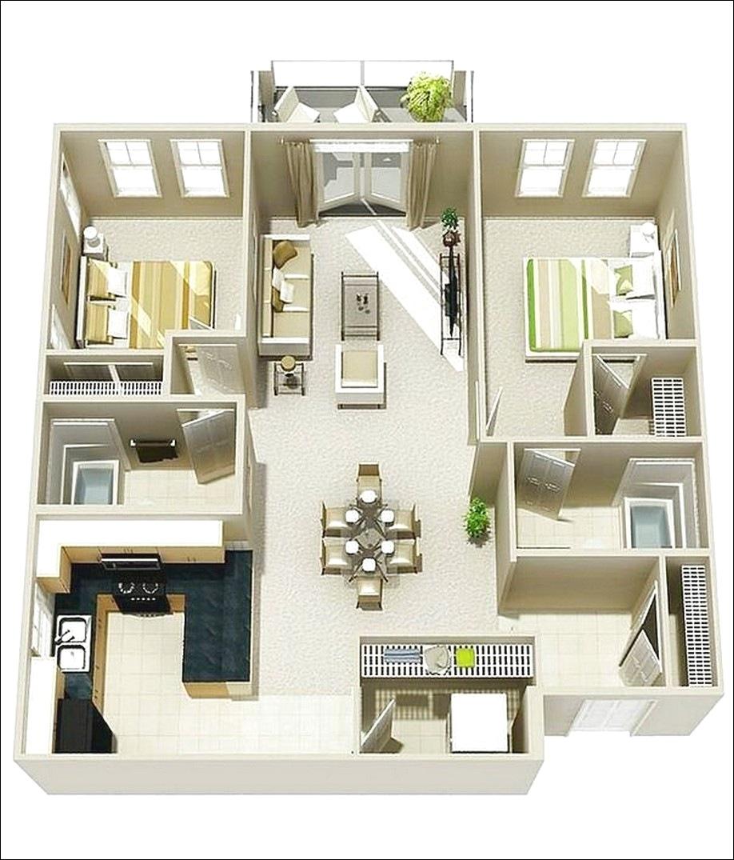 20 Gambar Denah Rumah Sederhana Dan Modern
