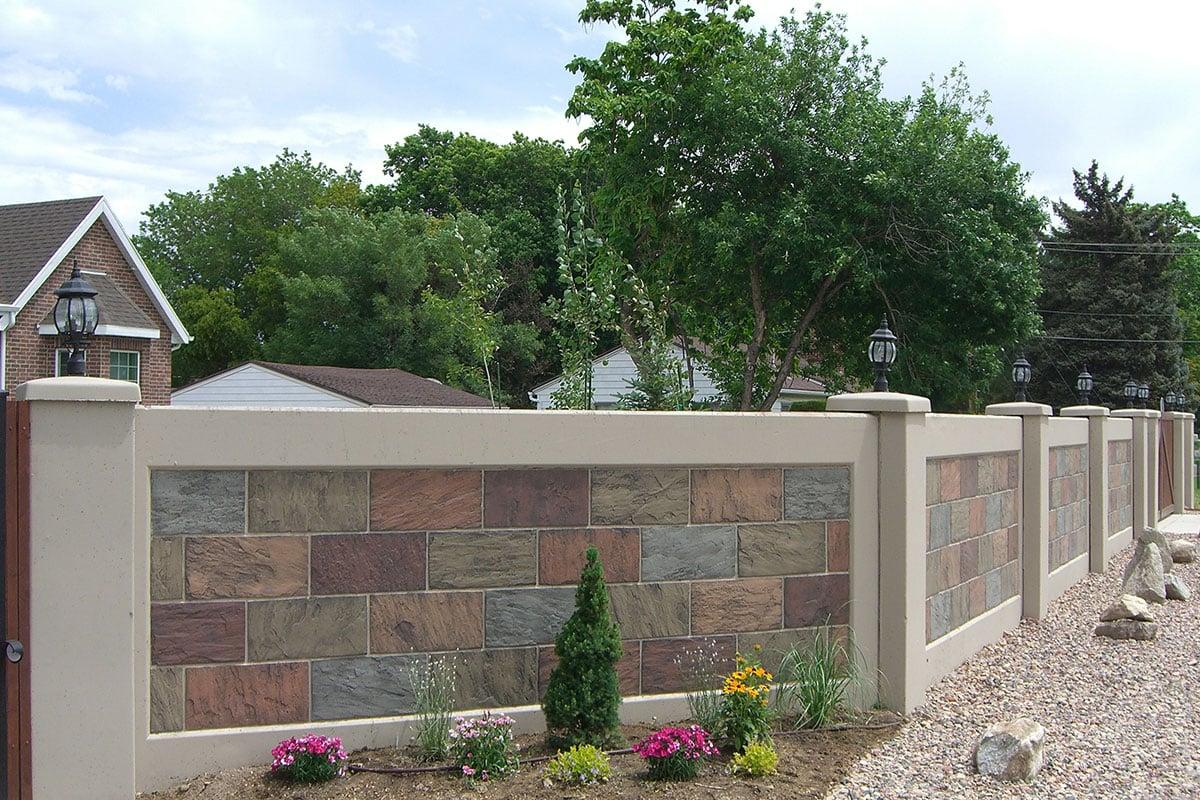 desain pagar beton