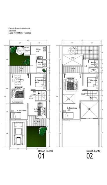 18 Gambar Denah Rumah Type 36 1 2 Lantai Terbaru 2020