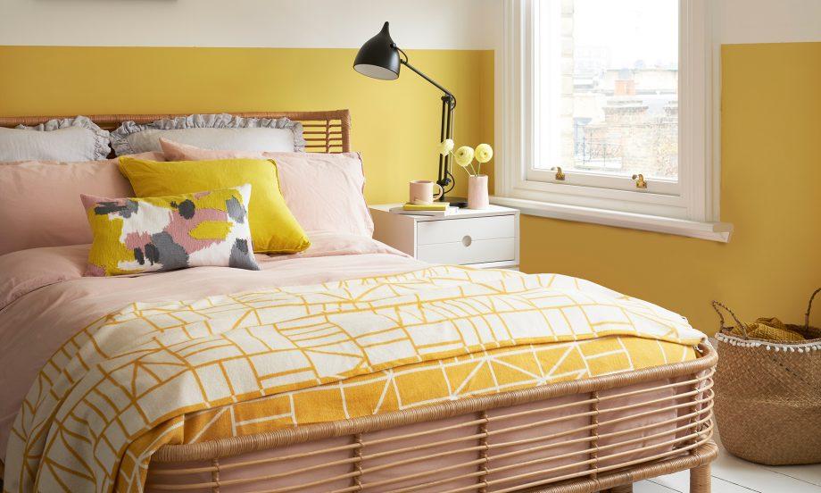 cat rumah warna kuning