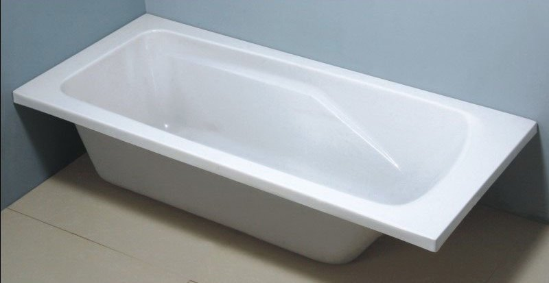 material bathtub