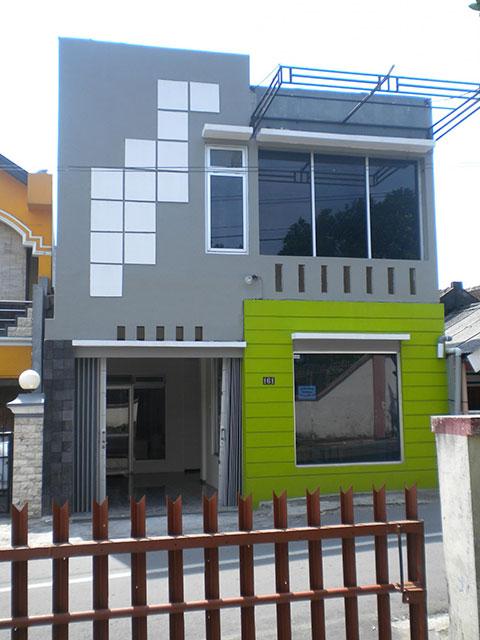 cat rumah warna hijau bolu pandan