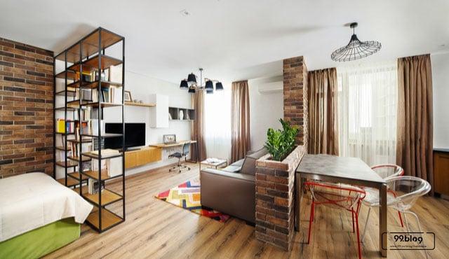 apartemen studio interior
